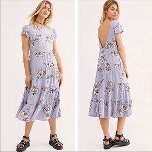 Free People | Rita Tiered Periwinkle Dress